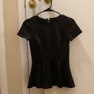 Small Black Forever 21 cute cinched shirt